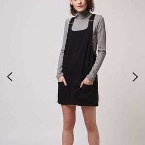 Topshop MOTO Denim Mini Pinafore